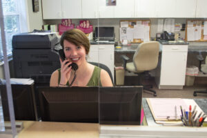 Our lead receptionist at our Jackson Clinic